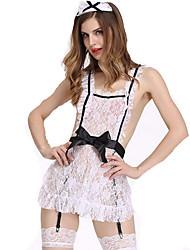 Women's Backless Sexy Lingerie Maid Uniform Sleepwear
