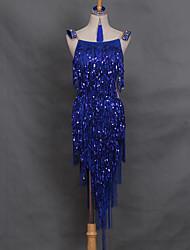Shall We Latin Dance Dresses Women's Performance Spandex  Dress