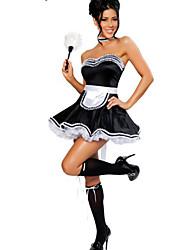 Dienstmädchenuniform Karriere Kostüme Cosplay Kostüme Party Kostüme Frau Halloween Karneval Fest/Feiertage Halloween Kostüme Spitze