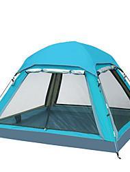 Недорогие -4 человека Палатка с экраном от солнца Дом с экраном от солнца На открытом воздухе Водонепроницаемость, Сохраняет тепло, Влагонепроницаемый Трёхслойный Палатка 2000-3000 mm для