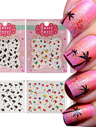 cheap -3 Patterns/Sheet Hawaii Palm Tree Nail Art Water Decals  Transfers Stickers