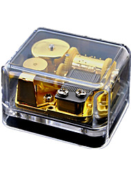 Music Box Wind-up Toy Toys Square Sweet Special Creative Pieces Boys' Girls' Birthday Valentine's Day Children's Day Gift
