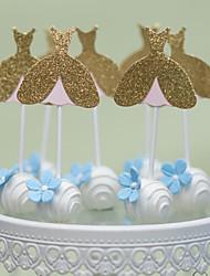Kagedekorationer Ikke-personaliseret Hjerter Kort Papir Fødselsdag Bryllup Jubilæum Bridal Shower Baby Shower 15- og 16-års fødselsdage