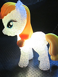 cheap -1Pcs 5.5Cm*14Cm Colorful Discoloration Cute Pony LED Little Night Lights The Kids Holiday Gift Toy