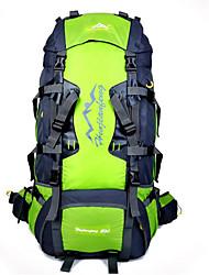 Недорогие -80 L Рюкзаки / Заплечный рюкзак - Водонепроницаемость, Дышащий, Ударопрочность На открытом воздухе Отдых и Туризм, Восхождение, Спорт в свободное время Нейлон Оранжевый, Красный, Пурпурный
