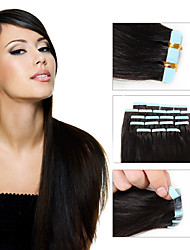 cheap -8A Tape In Remy Human Hair Extensions Wholesale Skin Weft Malaysian Straight Tape Hair Extensions Double Drawn 20pcs/lot Skin Weft