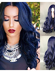 cheap -Women Synthetic Wigs Capless Body Wave Blue Natural Wig Costume Wig