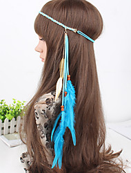 cheap -Fashion Simple Charming Feather Wooden Beads Headbands 1 Piece