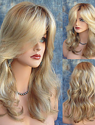 Natural Looking Middle Length Wave Blonde Wig Sexy Dialy Wearing Wigs Heat Resistant Cheap High Quality