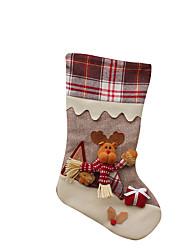 baratos -Brinquedos de Natal Sacos de Presentes Brinquedos Meias Ternos de Papai Noel Elk Boneco de neve Têxtil 3 Peças