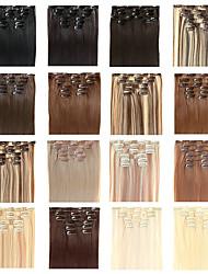 """Недорогие -22 """"дюймовый клип в наращивание волос Futura - семь штук полным набором головы - 100 грамм волос в упаковке"""