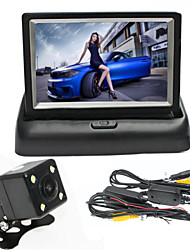 cheap -RenEPai® 4.3 Inch Folding Display Monitor + Wireless 170°HD Car Rear View Camera +  Wide Angle Waterproof Camera
