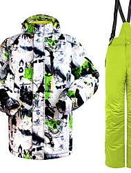 Men's Women's Hiking Down Jacket Waterproof Thermal / Warm Windproof Insulated Comfortable Top Bottoms Clothing Suits for Camping /