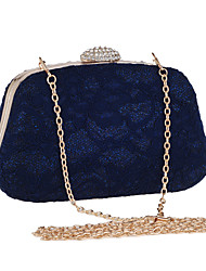 preiswerte -Damen Taschen Polyester Abendtasche Spitze Geometrisch Schwarz / Blau / Mandelfarben