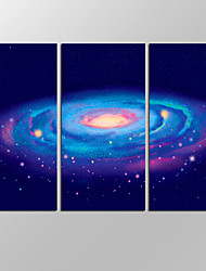 VISUAL STAR®3 panels Framed Galaxy Wall Art For Space Landscape Painting Pictures Print On Canvas For Home Modern Decoration