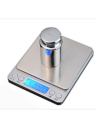 cheap -Kitchen jewelry scale Kitchen scale baking Large tray I2000 pocket said