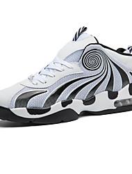 economico -Da uomo scarpe da ginnastica Corsa Comoda Felpato Primavera Autunno Inverno Sportivo Casual Lacci Piatto Bianco Nero/Rosso Bianco/nero