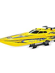 Lancha NQD 757T 1:10 RC Boat Electrico Não Escovado 2 2.4G Amarelo