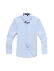 cheap -Men's Daily Formal Work Vintage Casual Fall Shirt,Striped Plaid Shirt Collar Long Sleeves Cotton Rayon Medium