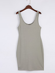 cheap -Women's Bodycon Dress - Solid Colored Backless