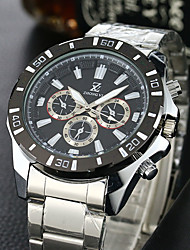 cheap -Men's Quartz Wrist Watch Sport Watch Casual Watch Stainless Steel Band Vintage Casual Dress Watch Fashion White