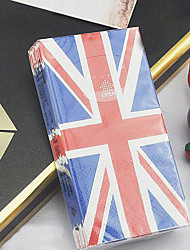 "estilo britânico union jack papel higiênico tecido guardanapo, 100% celulose virgem 4 ""X2.2"" x1 """