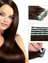 cheap -Tape In Human Hair Extensions Straight Human Hair Brazilian Hair Women's Daily