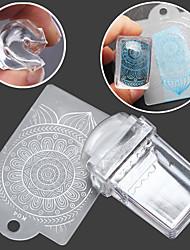 baratos -1SET Stamper e raspador Modelo arte de unha Manicure e pedicure Fashion Diário / Silicone / Plástico / Stamper & Scraper