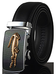 cheap -Men's Luxury Crocodile Icon Automatic Buckle Waist Belt Work / Casual Alloy / Leather Black All Seasons New