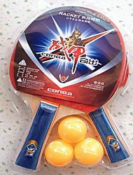 baratos -Ping Pang / Tabela raquetes de tênis Madeira Cabo Comprido / Espinhas Cabo Comprido / Espinhas 2 Raquete / 3 Bolas para Tênis de Mesa -