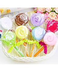 tovagliolo creativo regalo di compleanno lecca-lecca in fibra di forma (colore casuale)