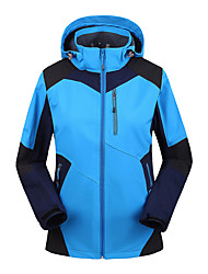 Women's Hiking Jacket Waterproof Thermal / Warm Windproof Fleece Lining Breathable Tracksuit Coverall for Skiing Camping / Hiking Leisure