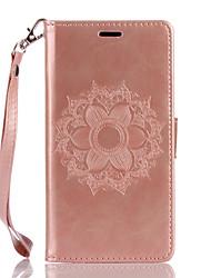 Para wiko lenny3 lenny2 pu couro material datura flores padrão borboleta telefone capa