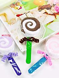 Birthday Gift Lollipop Shape Fiber Creative Towel (Random Color)
