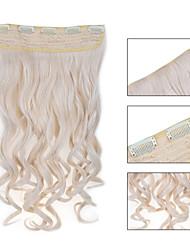 お買い得  -5クリップは、利用可能な女性のより多くの色のための毛延長60#人工毛クリップを波状