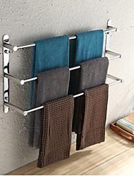Недорогие -вешалка для полотенец из нержавеющей стали 3 яруса вешалка для полотенец настенная 70см