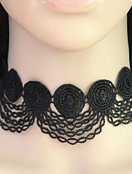 Women's Choker Necklaces Collar Necklace Lace Vintage Fashion Black Jewelry Party 1pc