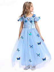 cheap -Princess Fairytale Cosplay Cosplay Costume Party Costume Masquerade Movie Cosplay Dress Halloween Carnival Polyester