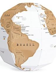 diy créatif ensemble zéro globe stéréo globe 3d carte du monde cadeau monde vertical