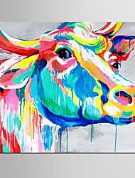 abordables -Peinture à l'huile Hang-peint Peint à la main - Pop Art Classique Moderne Toile