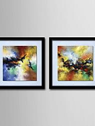 abordables -Peinture à l'huile Hang-peint Peint à la main - Abstrait Classique Toile