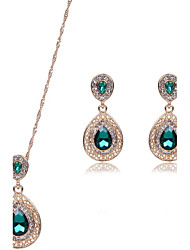 cheap -Women's Synthetic Ruby Jewelry Set - Include Black / Red / Green For Wedding / Party