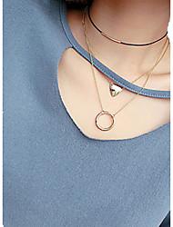 abordables -Femme Forme de Cercle Forme Géométrique Forme Géométrique Basique Multicouches Le style mignon Multivoies Porter Couche double Durable