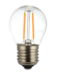 cheap -1PCS 2W E14 B22 E26/E27 LED Filament Bulbs G45 2 leds COB Dimmable Decorative Warm White 150-200lm 2300-2700K AC 110V AC22V