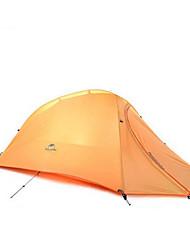 Недорогие -Naturehike 1 человек Туристические палатки На открытом воздухе Компактность Дожденепроницаемый Сохраняет тепло Двухслойные зонты Палатка >3000 mm для Охота Походы Путешествия