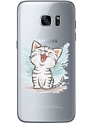 cheap -For Samsung Galaxy S6 Edge Plus S6 S7 Edge S7 Happy little kitty Soft Material For Compatibility TPU