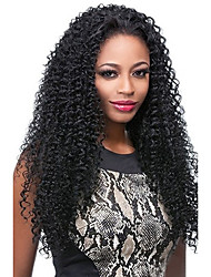 cheap -Human Hair Full Lace Wig Kinky Curly 120% Density 100% Hand Tied African American Wig Natural Hairline Short Medium Long Women's Human