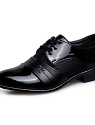 cheap -Men's Formal Shoes PU(Polyurethane) Spring / Fall Oxfords Waterproof Black / Light Brown / Wedding / Party & Evening / Novelty Shoes