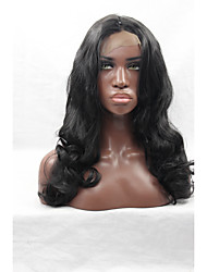 Natural Black Body Wave Synthetic Lace Front Wigs Long Black Big Wavy Wig