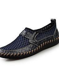 Недорогие -Муж. обувь Полиуретан Осень / Зима Удобная обувь Мокасины и Свитер Темно-коричневый / Зеленый / Синий